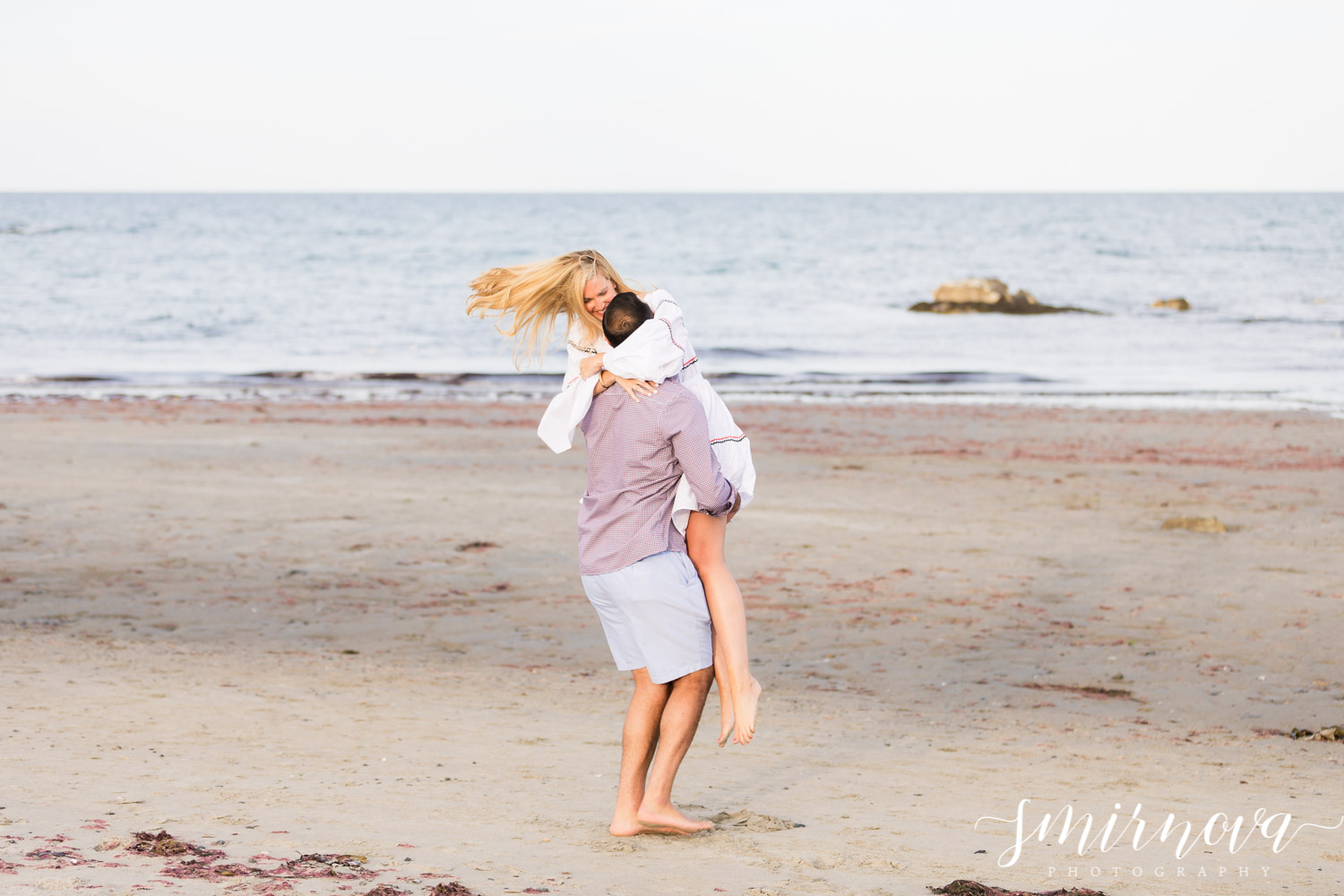 beach proposal engagement Smirnova Photography by Alyssa