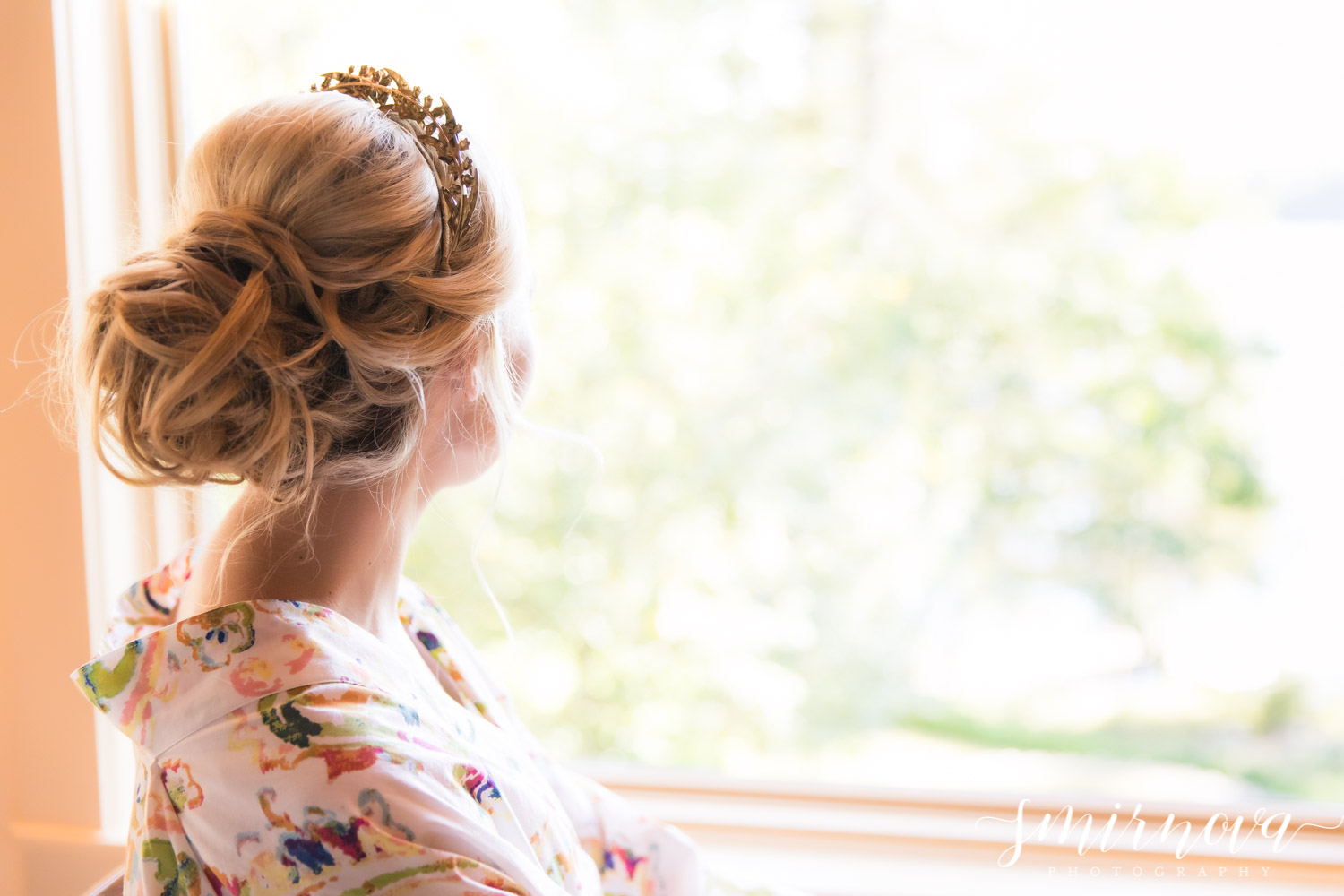 bridal updo hairstyle Smirnova Photography by Alyssa