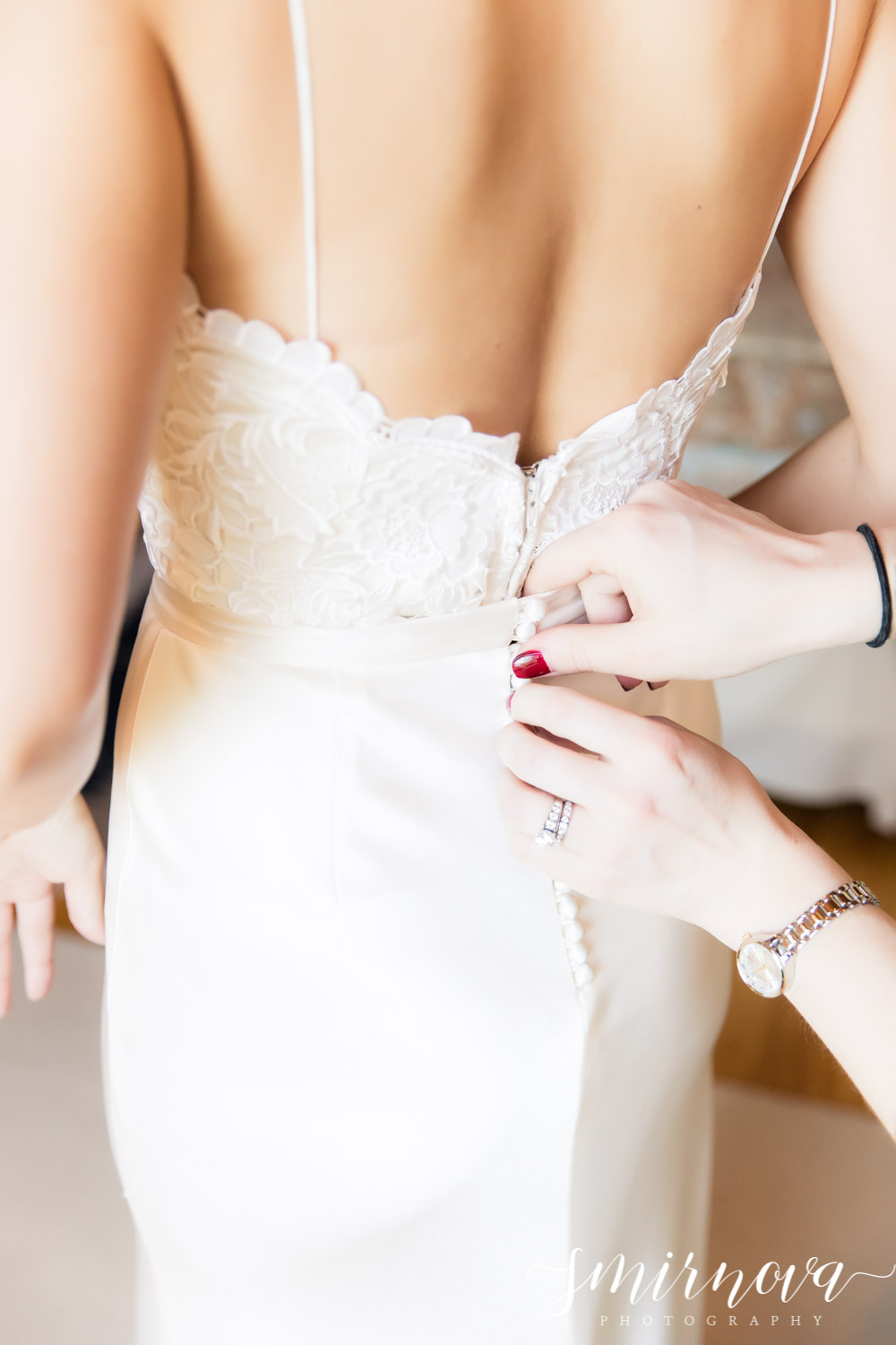 wedding dress details Smirnova Photography by Alyssa