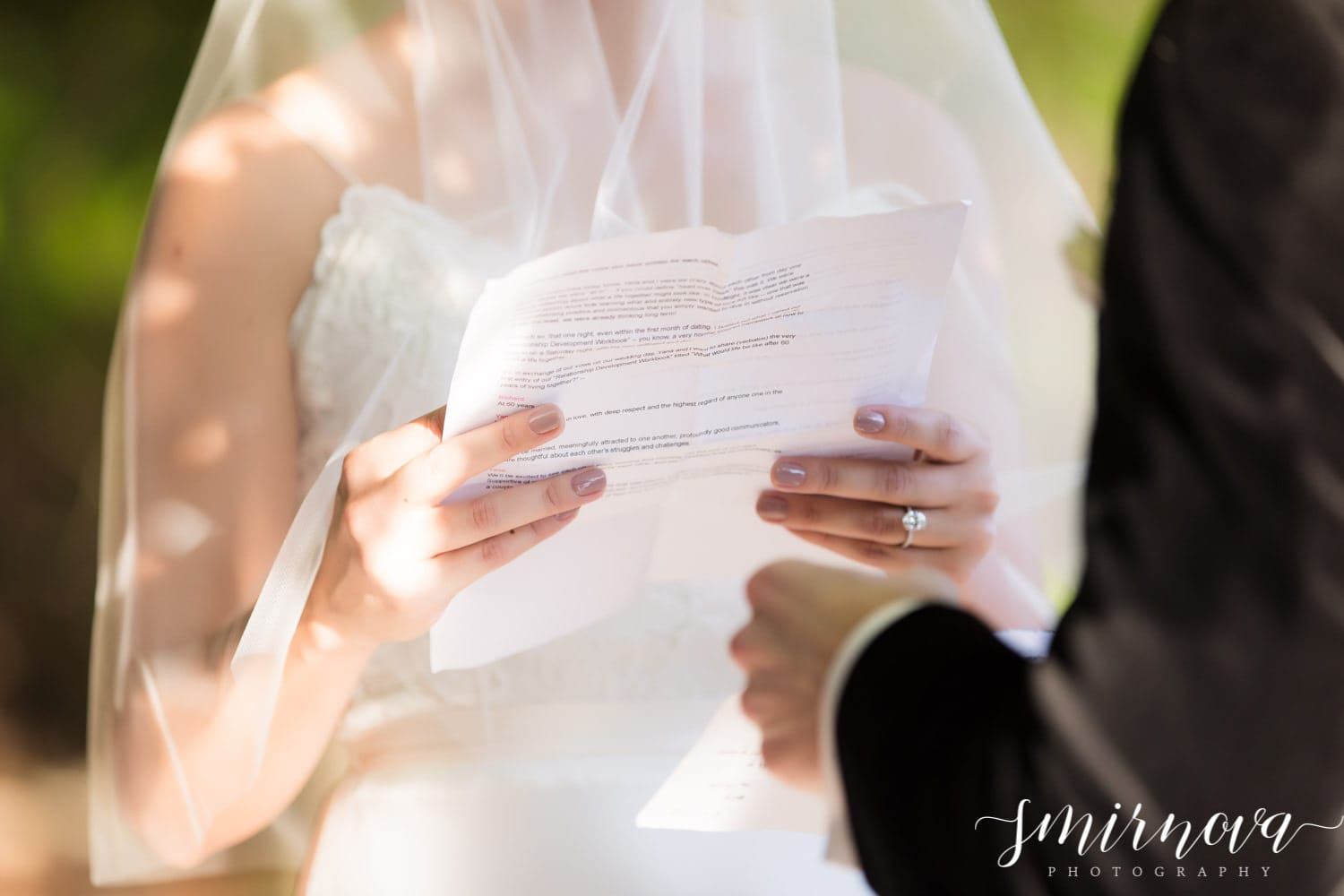 reading vows Smirnova Photography by Alyssa