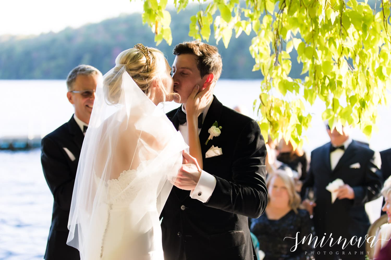 first kiss wedding Smirnova Photography by Alyssa