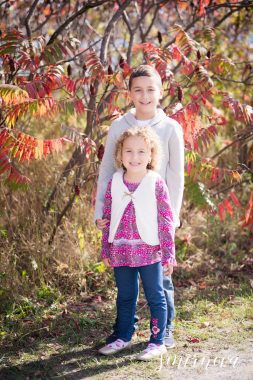 fall foliage children portraits