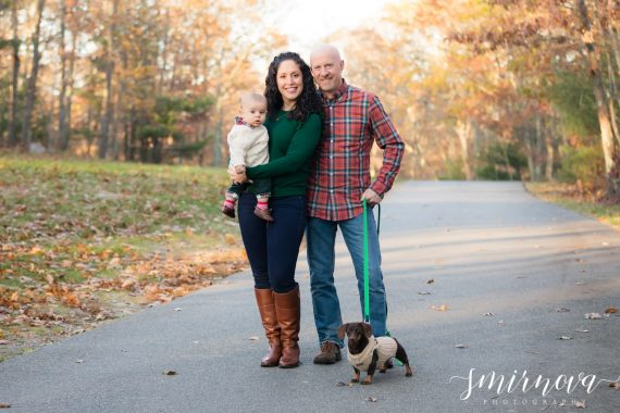 fall family portrait with dog Smirnova Photography by Alyssa