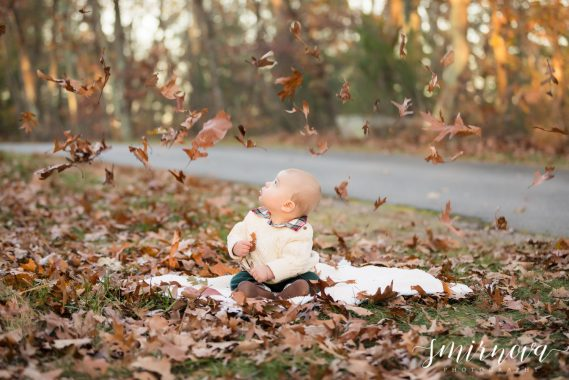 baby child fall leaves Smirnova Photography by Alyssa