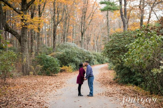 fall colors trees engagement Smirnova Photography by Alyssa
