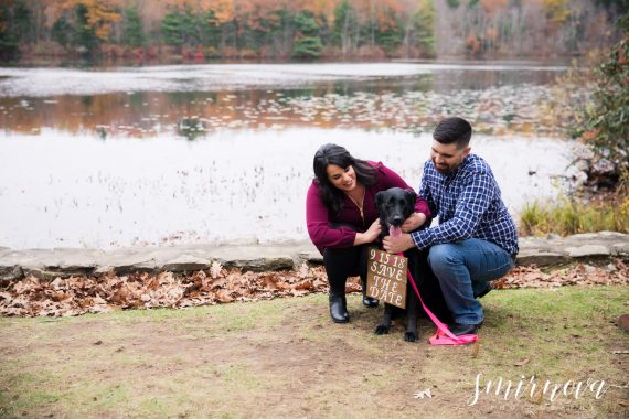 save the date with dog Smirnova Photography by Alyssa