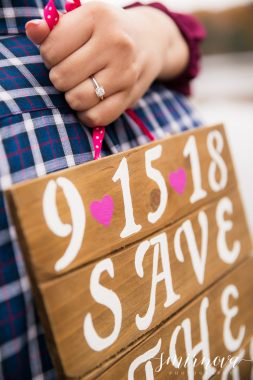 handmade save the date sign engagement ring Smirnova Photography by Alyssa