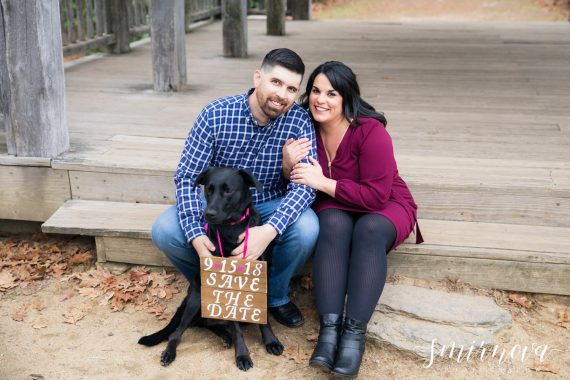 save the date with dog sign Smirnova Photography by Alyssa