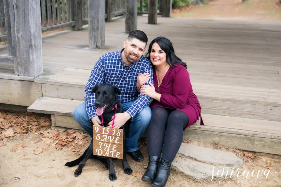 save the date with pet sign Smirnova Photography by Alyssa