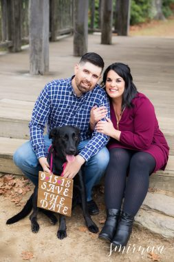 dog holding save the date sign Smirnova Photography by Alyssa
