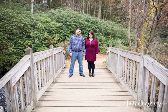 moore state park bridge engagement Smirnova Photography by Alyssa
