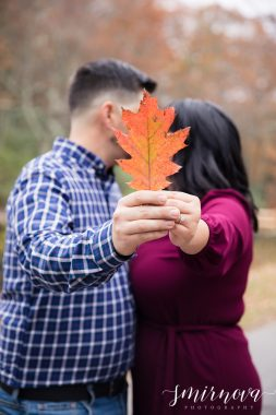 Fall foliage leaves engagement Smirnova Photography by Alyssa