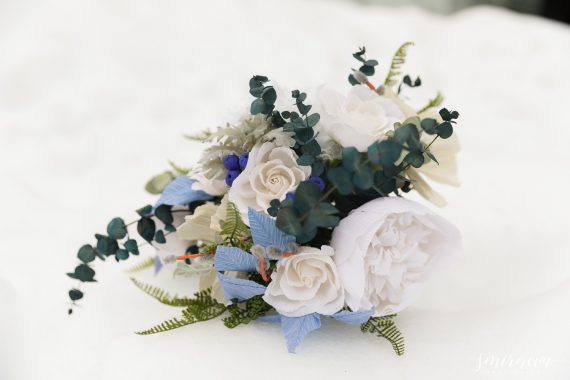 dusty blue bouquet