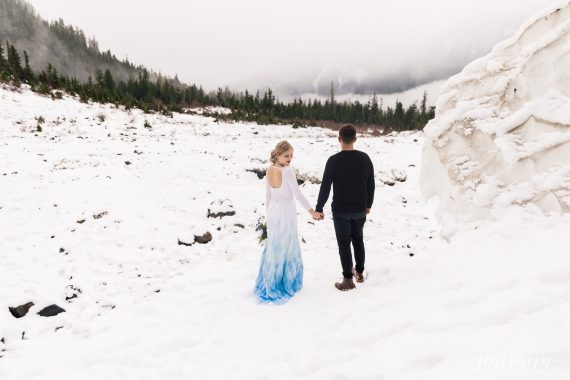 snow winter styled shoot