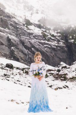 snow mountain winter styled shoot