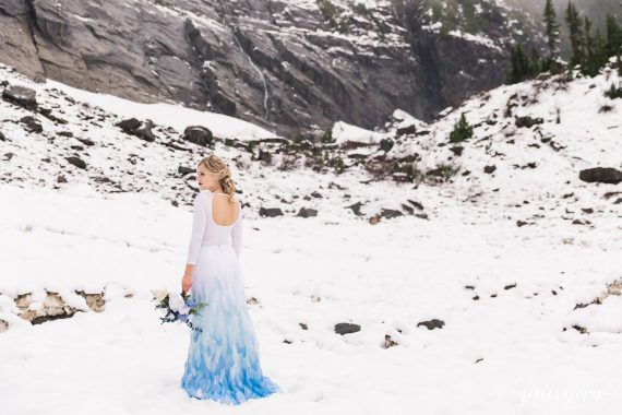 blue winter styled shoot