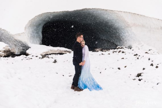 big four ice caves engagement photography