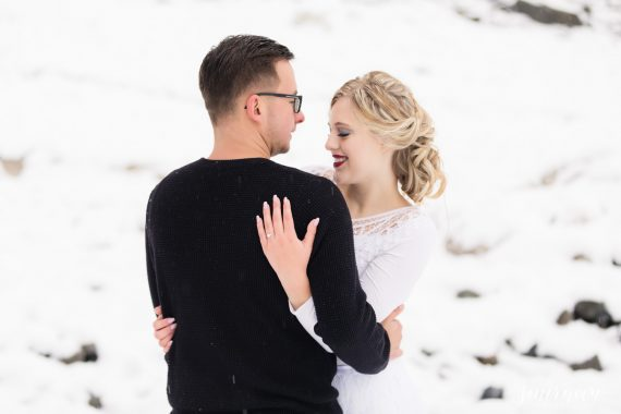winter styled shoot in snow