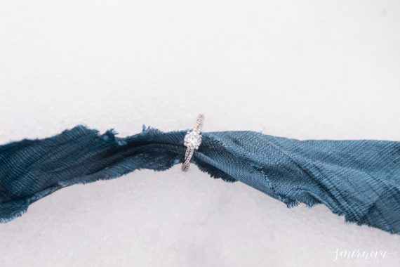 dusty blue engagement wedding ring