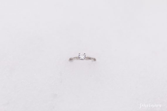 twisted band engagement ring snow