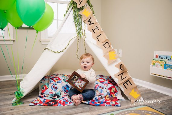 first birthday teepee tent