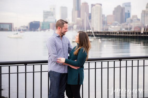 boston waterfront engagement