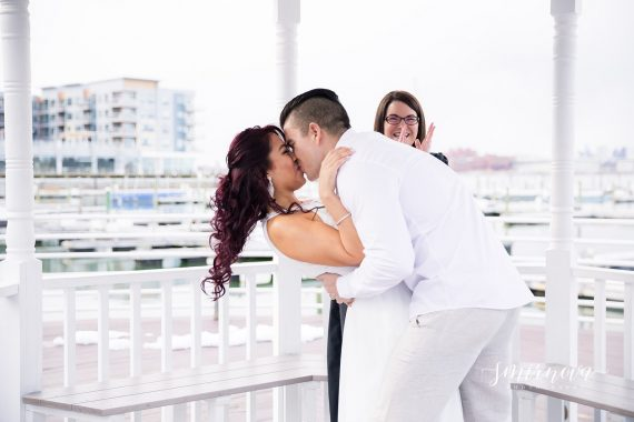 wedding kiss dip elopement Smirnova Photography