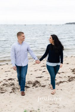 Knowles Beach Dartmouth MA beach Engagement Smirnova Photography
