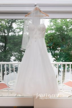 Beaded Wedding dress and veil