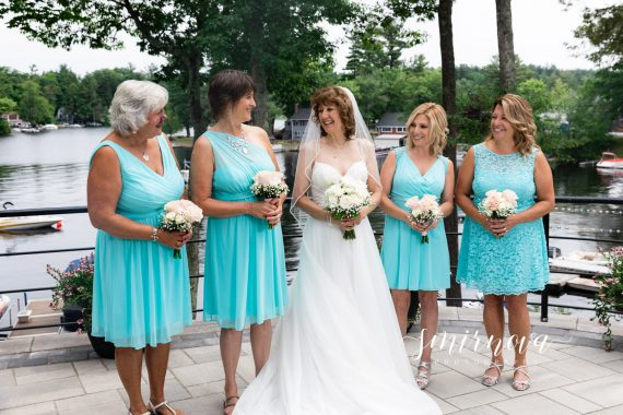 bride and bridesmaids