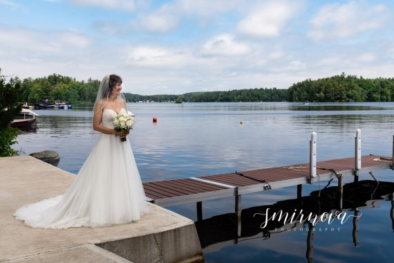 lakeside wedding bridal portrait