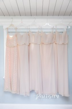 pink blush bridesmaid dresses Smirnova Photography