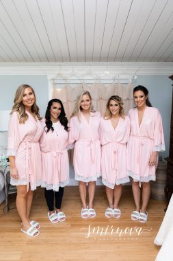 bridesmaids matching robes Smirnova Photography