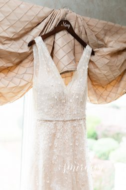 floral applique wedding dress
