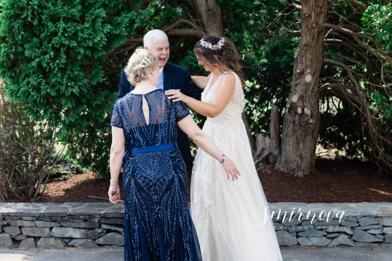 parents first look Segregansett Country Club Wedding Smirnova Photography