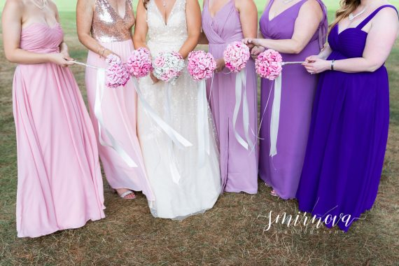 purple bridal party Segregansett Country Club Wedding Smirnova Photography